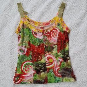 Eva & claudi Floral Abstrac strap top